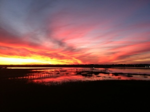 An inspirational NC sunset. Thanks, M2 (Loretta!), for the photo.